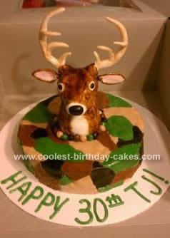 Homemade Deer Hunter Cake