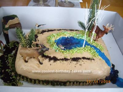 Prime Cool Deer Hunting Cake Personalised Birthday Cards Veneteletsinfo