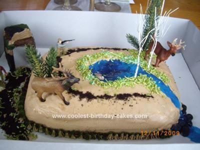 Marvelous Cool Deer Hunting Cake Funny Birthday Cards Online Elaedamsfinfo