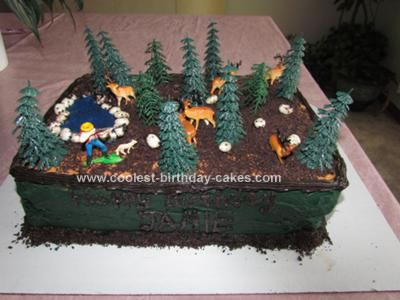 Swell Coolest Deer Hunting Cake Personalised Birthday Cards Veneteletsinfo