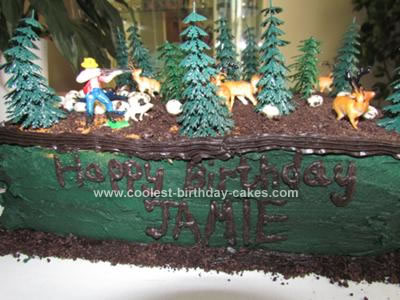 Homemade Deer Hunting Cake