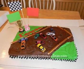 Homemade Demolition Derby Cake