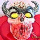 Homemade Demon Halloween Cake