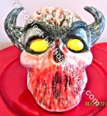 Homemade Demon Halloween Cake