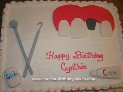 Homemade Dental Implant Cake