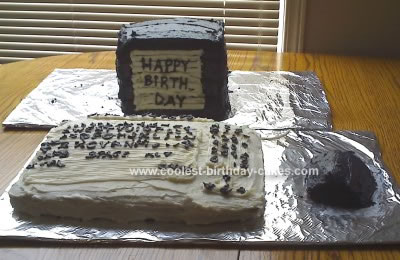 Homemade Desktop PC Birthday Cake