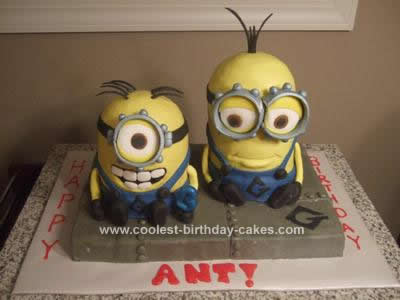 Homemade Despicable Me Birthday Cake