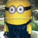 """Homemade Despicable Me """" Minion """" Birthday Cake"""