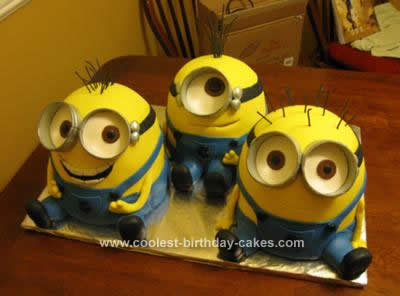 Miraculous Awesome Homemade Despicable Me Minions Birthday Cake Funny Birthday Cards Online Inifofree Goldxyz
