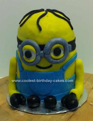 Homemade Despicable Me Minion Birthday Cake