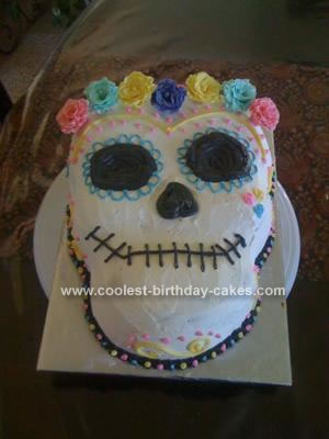 Wondrous Coolest Dia De Los Muertos Birthday Cake Funny Birthday Cards Online Eattedamsfinfo