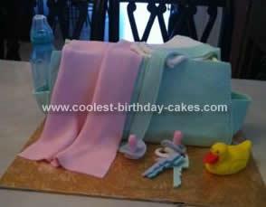 Homemade Diaper Bag Cake Idea