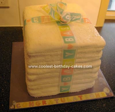 Cloth Nappy/Diaper Cake.