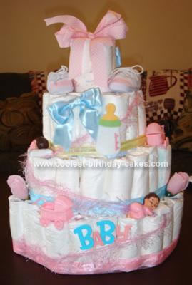 Homemade Diaper Cake