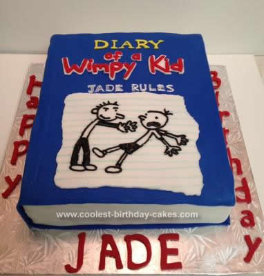 Prime Coolest Diary Of A Wimpy Kid Birthday Cake Personalised Birthday Cards Arneslily Jamesorg