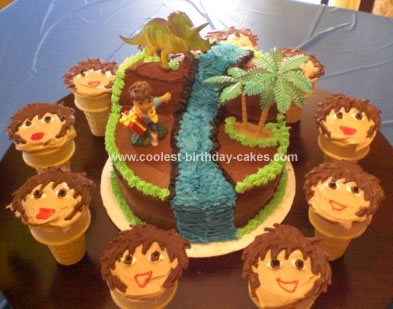 Homemade Diego Birthday Cake