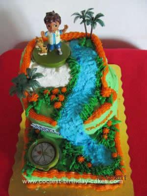 Homemade Diego Birthday Cake