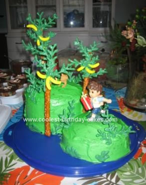 Homemade Diego Jungle Birthday Cake