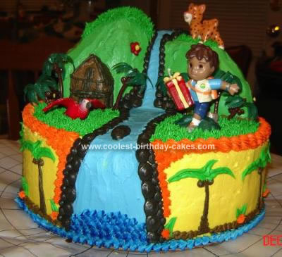 Homemade Diego Mountain Scene Cake