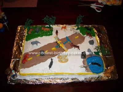 Homemade Diego Scene Cake