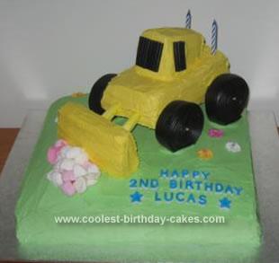 Homemade Digger Cake