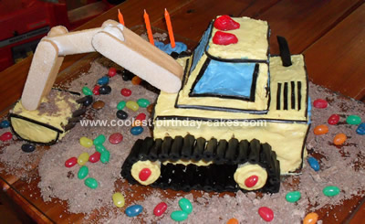 Homemade Digger Cake Design