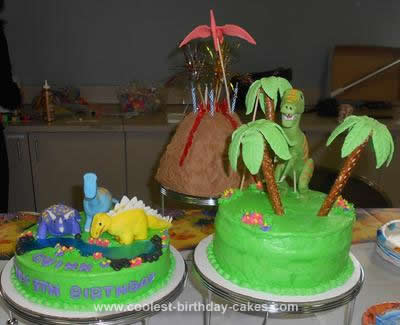 Homemade Dinosaur Birthday Cake