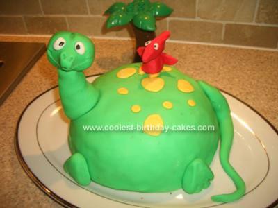 Homemade Dinosaur and little Pterodactyl friend!
