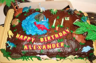 Homemade Dinosaur Birthday Cake Idea