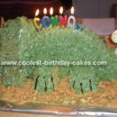 Triceratops Dinosaur Cake