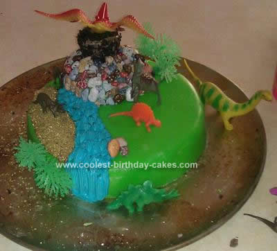 Homemade Dinosaur Cake