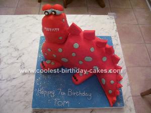 Homemade Dinosaur Cake Idea