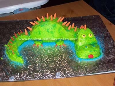 Homemade Dinosaur Cake Idea