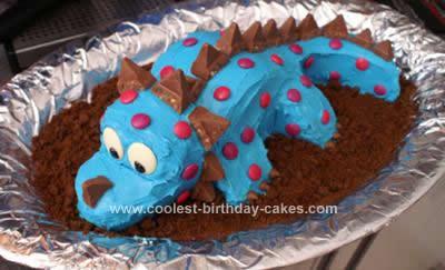 Homemade Dinosaur Stegaceratops Cake