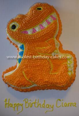 Homemade Dinosaur Train Cake