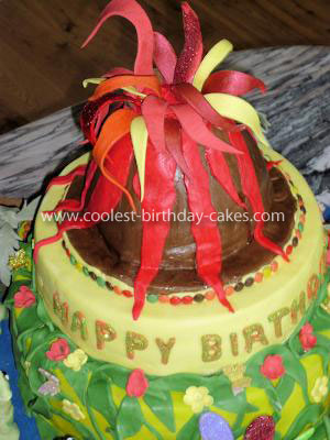 Coolest Dinosaur Volcano Cake