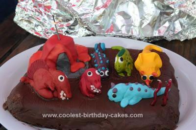 Homemade Dinosaurs Cake