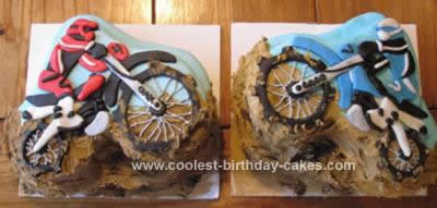 Homemade Dirt Bike Birthday Cake Design