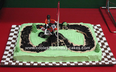 Pleasing Cool Homemade Dirt Bike Cake Funny Birthday Cards Online Inifofree Goldxyz