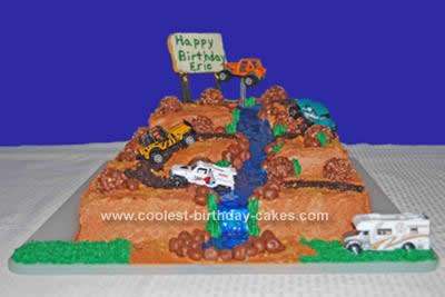 Homemade Dirt Track Cake