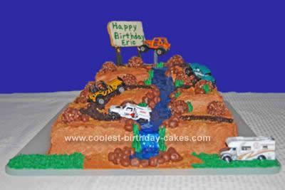 Homemade Dirt Track Cake
