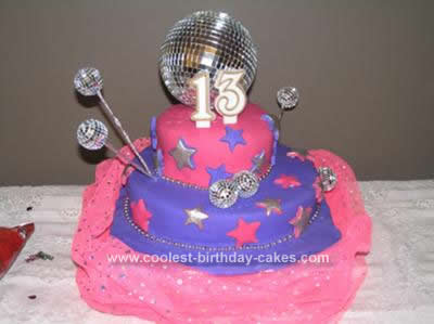 Homemade Disco Birthday Cake