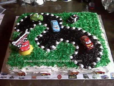 Homemade  Disney Cars 3rd Birthday Cake