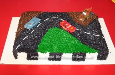 Homemade Disney CARS Birthday Cake