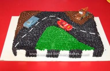 Homemade Disney CARS Birthday Cake
