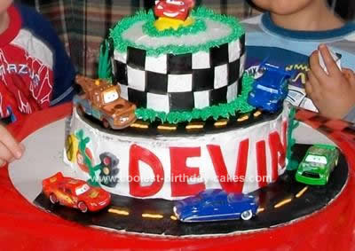 Homemade Disney Cars Cake