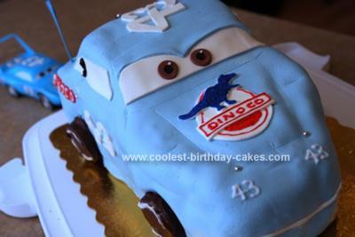Homemade Disney Cars The King Birthday Cake
