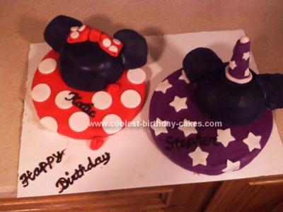 Homemade Disney Character Birthday Cake