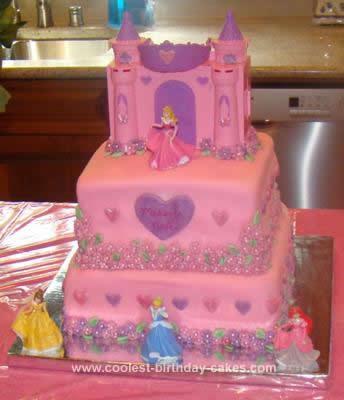 Homemade Disney Princess Cake