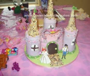 Marvelous Cool Homemade Disney Princess Castle Birthday Cake Personalised Birthday Cards Petedlily Jamesorg